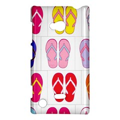 Flip Flop Collage Nokia Lumia 720 Hardshell Case
