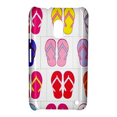 Flip Flop Collage Nokia Lumia 620 Hardshell Case