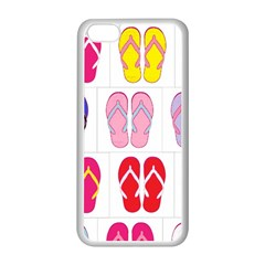 Flip Flop Collage Apple iPhone 5C Seamless Case (White)