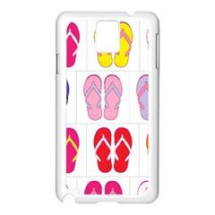 Flip Flop Collage Samsung Galaxy Note 3 N9005 Case (White)