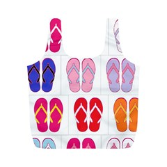 Flip Flop Collage Reusable Bag (m)