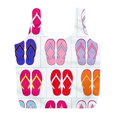 Flip Flop Collage Reusable Bag (l)