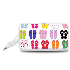 Flip-Flop Collage Portable Speaker (White)