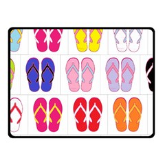 Flip-Flop Collage Fleece Blanket (Small)