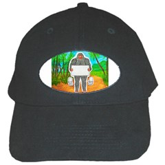 Yowie A, Text In Aussie Outback, Black Baseball Cap