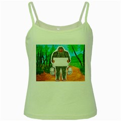 Yowie A, Text In Aussie Outback, Green Spaghetti Tank