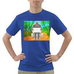 Yowie A, Text In Aussie Outback, Men s T-shirt (Colored)