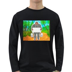 Yowie A, Text In Aussie Outback, Men s Long Sleeve T-shirt (Dark Colored)