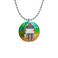 Yowie A, Text In Aussie Outback, Button Necklace