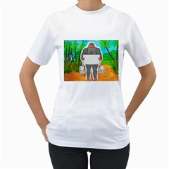 Yowie A, Text In Aussie Outback, Women s T Shirt (white)
