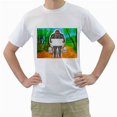 Yowie A, Text In Aussie Outback, Men s T-Shirt (White)