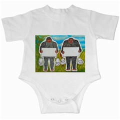 2 Big Foot Text In Everglades Infant Bodysuit