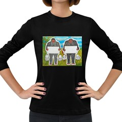 2 Big Foot Text In Everglades Women s Long Sleeve T Shirt (dark Colored)