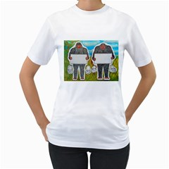 2 Big Foot Text In Everglades Women s T-Shirt (White)