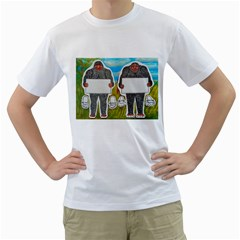 2 Big Foot Text In Everglades Men s T-Shirt (White)