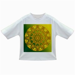 Yellow Green Abstract Wheel Of Fire Baby T-shirt
