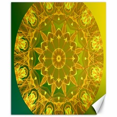Yellow Green Abstract Wheel Of Fire Canvas 8  x 10  (Unframed)