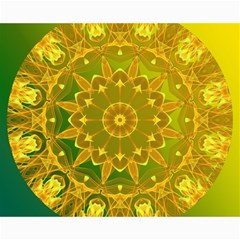 Yellow Green Abstract Wheel Of Fire Canvas 16  x 20  (Unframed)