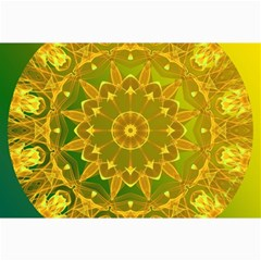 Yellow Green Abstract Wheel Of Fire Canvas 24  x 36  (Unframed)