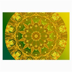 Yellow Green Abstract Wheel Of Fire Glasses Cloth (Large)