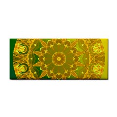 Yellow Green Abstract Wheel Of Fire Hand Towel