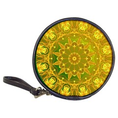 Yellow Green Abstract Wheel Of Fire Cd Wallet