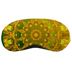 Yellow Green Abstract Wheel Of Fire Sleeping Mask