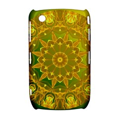 Yellow Green Abstract Wheel Of Fire BlackBerry Curve 8520 9300 Hardshell Case