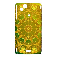 Yellow Green Abstract Wheel Of Fire Sony Xperia Arc Hardshell Case