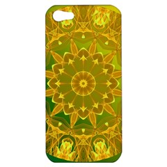 Yellow Green Abstract Wheel Of Fire Apple Iphone 5 Hardshell Case