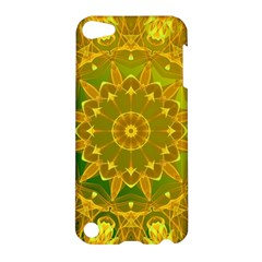 Yellow Green Abstract Wheel Of Fire Apple iPod Touch 5 Hardshell Case