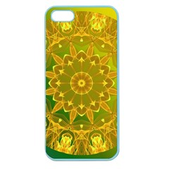 Yellow Green Abstract Wheel Of Fire Apple Seamless iPhone 5 Case (Color)