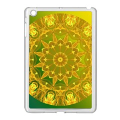 Yellow Green Abstract Wheel Of Fire Apple Ipad Mini Case (white)