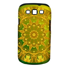 Yellow Green Abstract Wheel Of Fire Samsung Galaxy S Iii Classic Hardshell Case (pc+silicone)