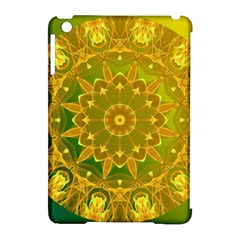 Yellow Green Abstract Wheel Of Fire Apple iPad Mini Hardshell Case (Compatible with Smart Cover)