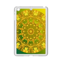 Yellow Green Abstract Wheel Of Fire Apple iPad Mini 2 Case (White)