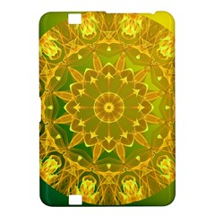 Yellow Green Abstract Wheel Of Fire Kindle Fire HD 8.9  Hardshell Case