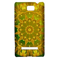 Yellow Green Abstract Wheel Of Fire HTC 8S Hardshell Case