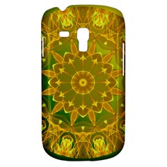 Yellow Green Abstract Wheel Of Fire Samsung Galaxy S3 Mini I8190 Hardshell Case