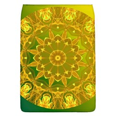 Yellow Green Abstract Wheel Of Fire Removable Flap Cover (Large)