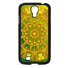 Yellow Green Abstract Wheel Of Fire Samsung Galaxy S4 I9500/ I9505 Case (black)