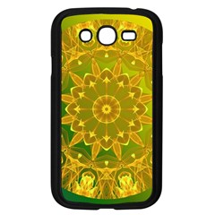 Yellow Green Abstract Wheel Of Fire Samsung Galaxy Grand DUOS I9082 Case (Black)