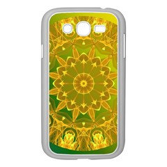 Yellow Green Abstract Wheel Of Fire Samsung Galaxy Grand DUOS I9082 Case (White)