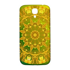 Yellow Green Abstract Wheel Of Fire Samsung Galaxy S4 I9500/i9505  Hardshell Back Case