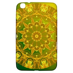 Yellow Green Abstract Wheel Of Fire Samsung Galaxy Tab 3 (8 ) T3100 Hardshell Case