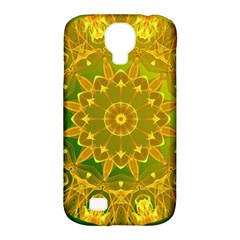 Yellow Green Abstract Wheel Of Fire Samsung Galaxy S4 Classic Hardshell Case (pc+silicone)