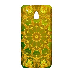 Yellow Green Abstract Wheel Of Fire HTC One mini Hardshell Case