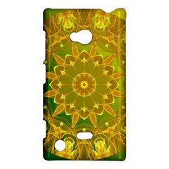Yellow Green Abstract Wheel Of Fire Nokia Lumia 720 Hardshell Case