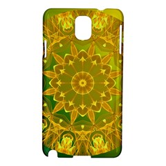 Yellow Green Abstract Wheel Of Fire Samsung Galaxy Note 3 N9005 Hardshell Case