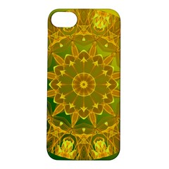Yellow Green Abstract Wheel Of Fire Apple Iphone 5s Hardshell Case